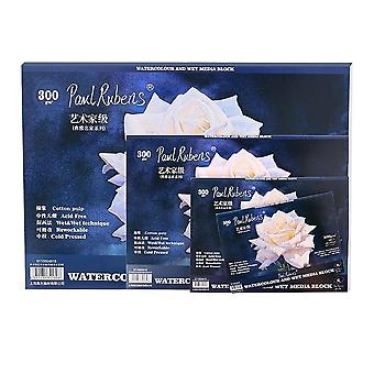 Cotton Watercolor Paper Block 300gsm Rag Artist Acid Free Cold Pressed Papers