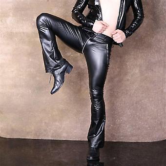 Cu talie joasă Slim Evazat piele Legging Fermoar Pantaloni Pant