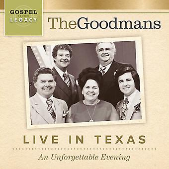 Goodmans - Live in Texas: An Unforgettable Evening [CD] USA import