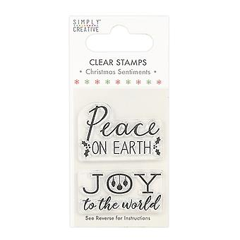 Simply Creative Christmas Sentiments Clear Stamps Peace