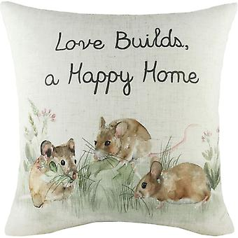Evans Lichfield Hedgerow Mice Cushion Cover