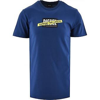 Dieselblå T-Diegos-A3 T-Shirt