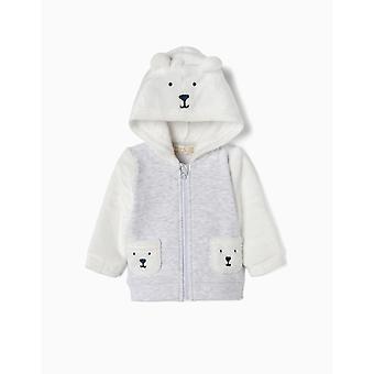 Zippy Jacket Hooded Fleece L Grey