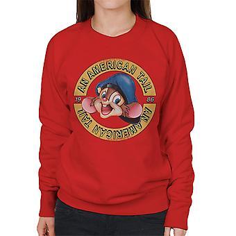 Ein amerikanischer Schwanz 1986 Fievel Mousekewitz Charakter Kopf Frauen's Sweatshirt
