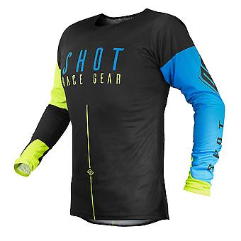 2020 Shot Aerolite MX Jersey Adult - Alpha Blue Neon Yellow
