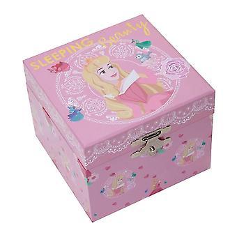 Caixa de Joias Musicais Da Princesa Aurora Pastel da Disney