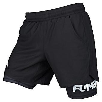 Fumetsu Dual Layer Training Szorty czarny/czarny