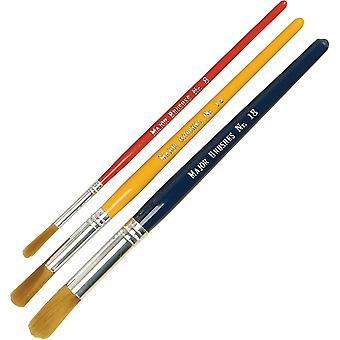 Major Brushes Kids Paint Brushes - Nylon Short Handle (Pack of 30)