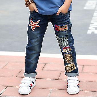 Children Cotton Teenage Denim Trousers Casual Pants