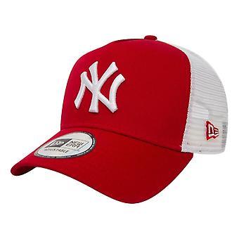 New Era NY Yankees Clean Trucker Cap - Red / White
