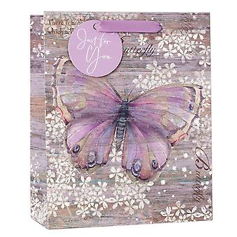 Simon Elvin Glitter Butterfly Gifts Bags (Pack of 6)