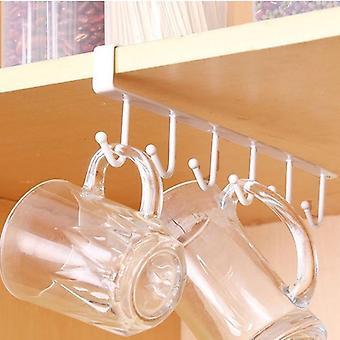 6 Hook kitchen organiser for cabinet doors