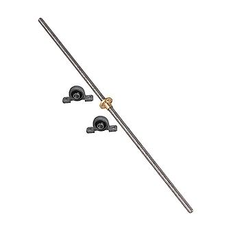 Block Mounted Bearing & 2mm Lead 400mm Lead Screw Set for 3D Printing