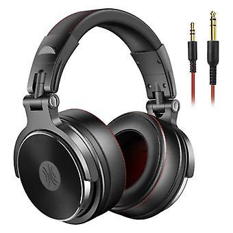 """אוזניות OneOdio Pro Studio עם חיבור AUX בגודל 6.35 מ""""מ ו-3.5 מ""""מ - אוזניות עם אוזניות DJ למיקרופון שחור"""