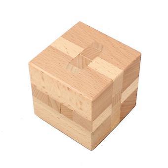 Τετραγωνικό ξύλινο παιχνίδι γρίφων κλειδαριών Kongming