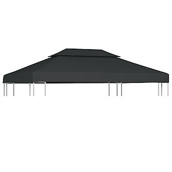 vidaXL roof tarpaulin for pavilion with chimney extractor 310 g/m2 4×3 m anthracite