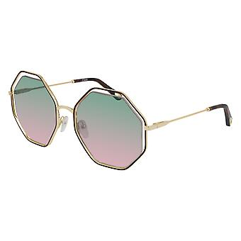Chloe CH0046s 002 Gull-Havana / Grønn Gradient Solbriller