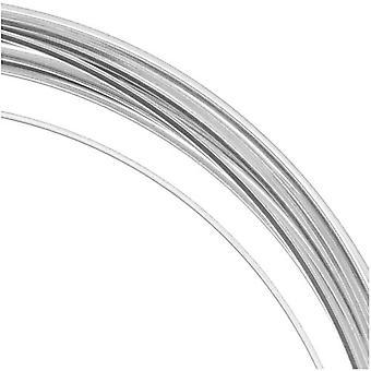 و Beadsmith غير تشويه الفضة مطلي النحاس ساحة كرافت حبة سلك 21Ga (12Ft)