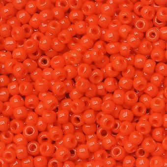 """Toho Seed Pärlor, Omgång 11/0 #50 """"Ogenomskinlig solnedgång orange"""", 8 gram"""