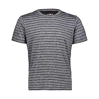 CMP Striped T-Shirt with Dry-Ve Technology, Man, Anthracite Mel, 48