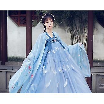 Kvinder Fairy Dress, Folk Dance Tøj Sæt