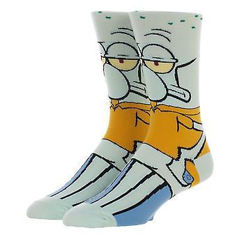 Spongebob Squidward 360 Character Crew Socks
