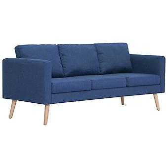 vidaXL sofá de 3 plazas tela azul