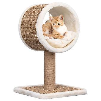 vidaXL Katzen-Kratzbaum mit Tunnel und Spielzeug 56 cm Seegras