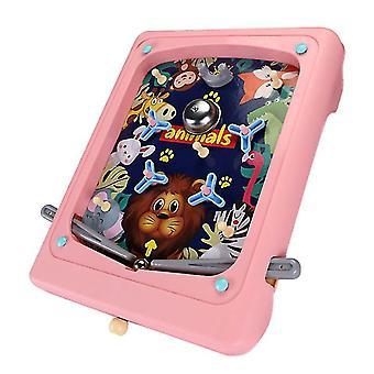 Vaaleanpunainen luova lasten flipperi peli sarjakuva kädessä pidettävä peli kone labyrintti ejection pisteet kone az16139
