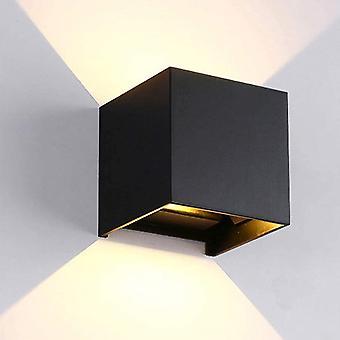 Black led wall light dt6494