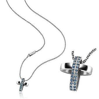 Breil jewels charming cross (swarovski crystals) necklace tj1467