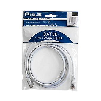 Pro2 hvit Cat5E patch blykabel