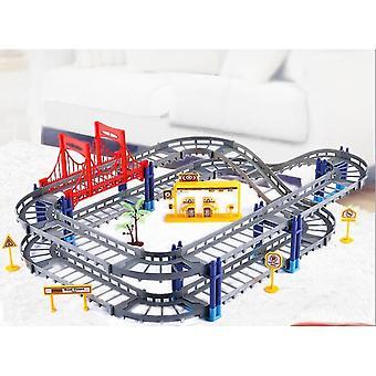 Eisenbahn-Auto-Montage elektrische Geschwindigkeitsschiene, pädagogisches Spielzeug, Kombinationen Playset,
