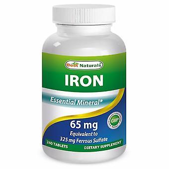 Best Naturals Iron, 65 mg, 240 Tabs