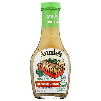 Annie's Homegrown Drssng Vngrt Rstd Garlic, Case of 6 X 8 Oz
