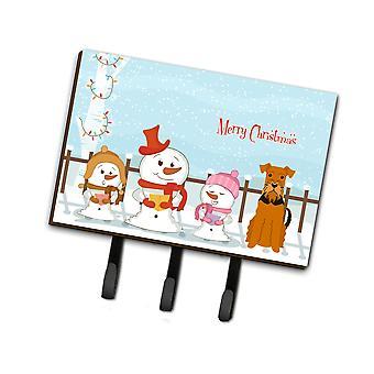 Caroline'S Treasures Christmas Carolers Merry Airedale Leash Or Key Holder Bb2372Th68, Triple