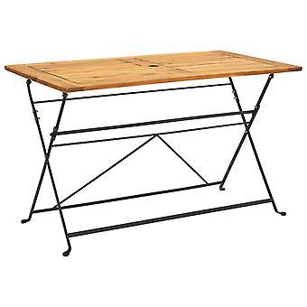 vidaXL Foldable garden table 120x70x74 cm solid wood acacia
