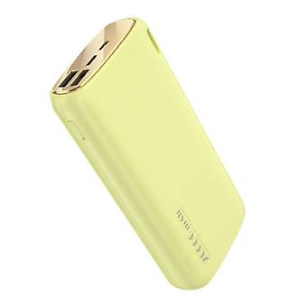 Kuulaa Powerbank 20.000mAh - 2.1A with 2 USB Ports - External Emergency Battery Charger Charger Yellow