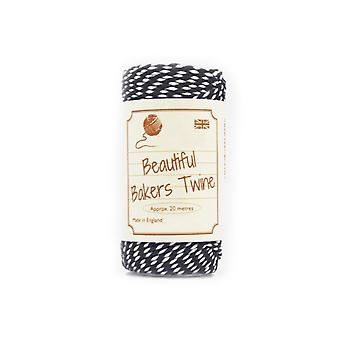 20m Black Natural Bakers Twine for Crafts & Gift Wrapping