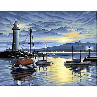 Sequin Art Harbour At Sunrise Large Painting By Numbers