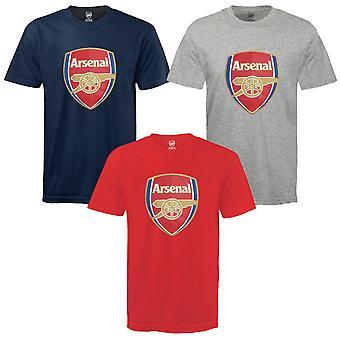 Arsenal FC Boys T-Shirt Crest Kids OFFICIAL Football Gift