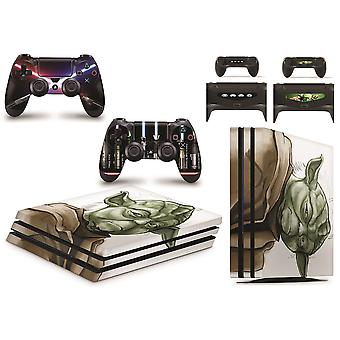 GNG PS4 PRO Console Yoda From Starwars Skin Decal Vinal Sticker + 2 Controller Skins Set