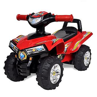 Children's Ride-on Quad with Sound and Light Red Kid Riding Toy Vehicle