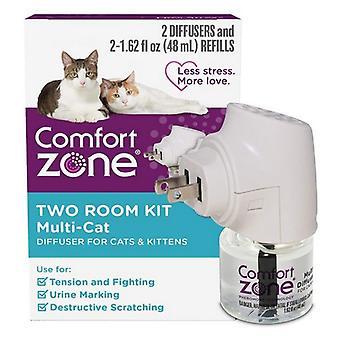 الراحة المنطقة غرفتين متعددة القط الناشر كيت للقطط والقطط - 2 العد