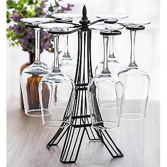 Creatieve decoratie glas wijn glas ondersteboven opknoping set wijn glas wijn beker houder wijn