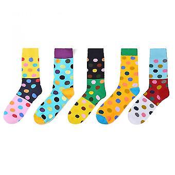 Yellow 5 pack men's colorful dress socks mz1090