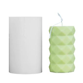 Soap dishes holders silicone candle mold 3d cylinder diy plaster crafts mould candle soap mould 7.8*12.7Cm