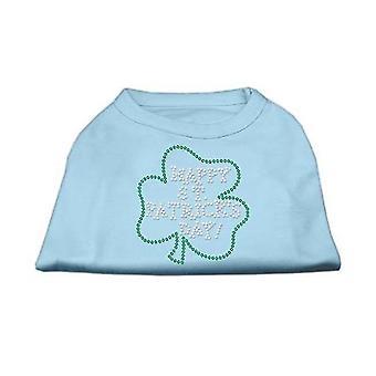 Dog apparel 52-36 xxxlbbl happy st. Patricks day rhinestone shirts baby blue xxxl- 20