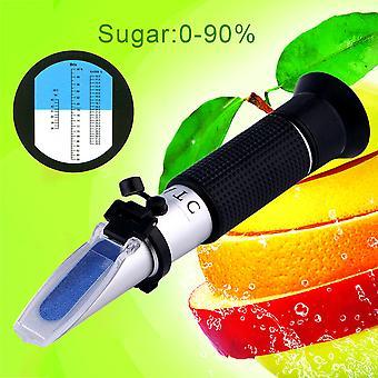 المحمولة الجديدة 0 ~ 32٪ بريكس ورت معامل الانكسار عصير الفاكهة النبيذ اختبار السكر