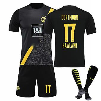 Haaland #17 Jersey 2021-2022 Új szezon férfi Borussia Dortmund Soccer póló Jersey Set